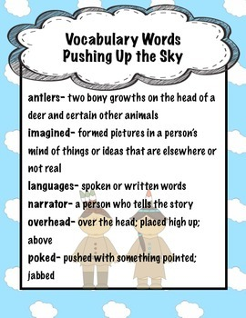 Pushing Up the Sky Activity Pack Scott Foresman Reading Street Unit 3 Week 2