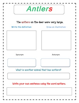 Pushing Up the Sky - Selection Vocabulary