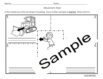 Pushing and Pulling Activities (5 sets) Cscope Common Core