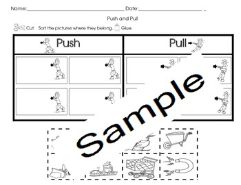 Pushing and Pulling Activities (5 sets)