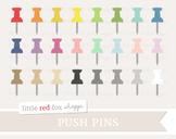 Pushpin Clipart; Bulletin, Push Pin, Office