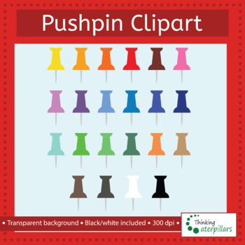 Pushpin clip art