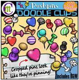 Pushpins Clipart