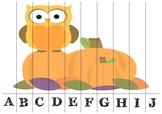 Puslespill med alfabetet - Høsttema