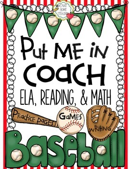 Put Me In Coach Literacy and Math Center Activities