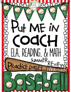 Put Me In Coach Literacy & Math Practice Pages