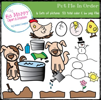 Put Me In Order Clipart Set