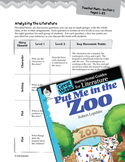 Put Me in the Zoo Leveled Comprehension Questions