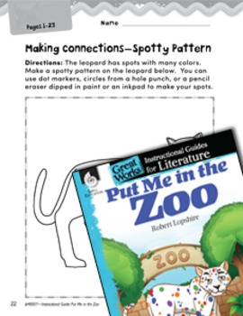 Put Me in the Zoo Making Cross-Curricular Connections