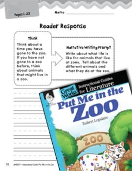 Put Me in the Zoo Reader Response Writing Prompts