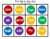 Put Me in the Zoo Rhyme Pack