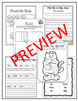 Put Me in the Zoo! Worksheets and Activities