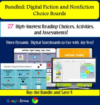 Reading Choice Boards: Fiction & Nonfiction Activities, Assessment for ANY Text!
