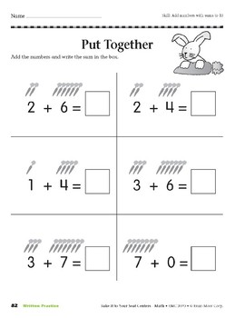Put Together (Take It to Your Seat Centers Common Core Math)