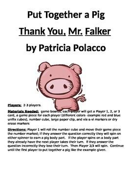 Put Together a Pig Thank You, Mr. Falker
