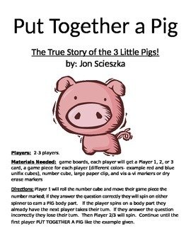 Put Together a Pig: The True Story of the 3 Little Pigs by