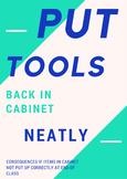 Put Tools Away Sign