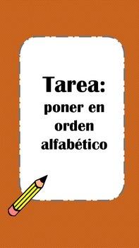 Put Words in ABC Order-Spanish