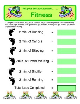 Physical Education - Put Your Best Foot Forward Fitness