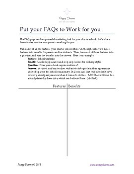 Put Your FAQs to Work for You (Charter Schools)