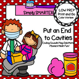 Put an End to Cavities:  LOW PREP Dental Health Themed Play Dough Mats