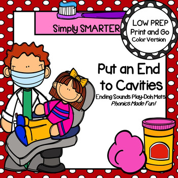 Put an End to Cavities:  LOW PREP Dental Health Themed Play Dough Mats