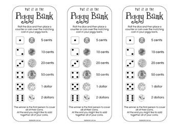 Put it in the Piggy Bank ~ Australian Money