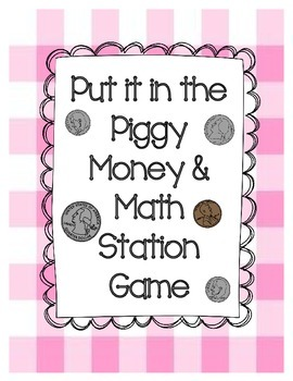 Put it in the Piggy! Math Station Game