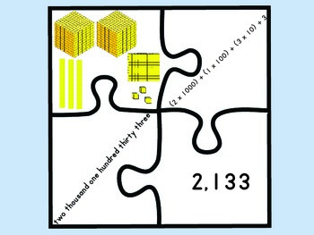 Put it together again.... Puzzle pieces that match place value