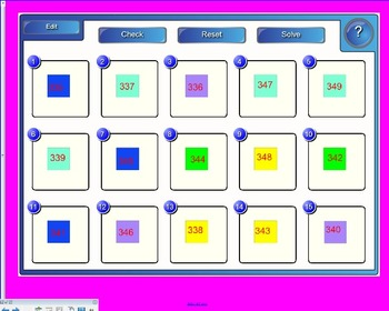 Put numbers in order center-SmartBoard