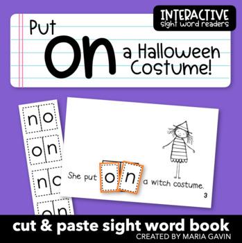 "Interactive Sight Word Reader ""Put on a Halloween Costume"""