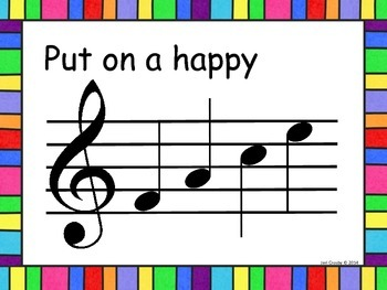 Put on a Happy F-A-C-E, Treble Staff Poster to Help Students Smile & Learn