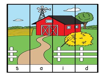 Put the Farm in Order:  NO PREP Farm Themed Sight Word Puzzles