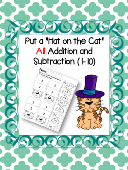 Put the Hat on the Cat - All addition and subtraction (1-10)