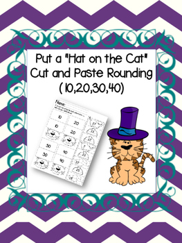 Put the Hat on the Cat Rounding (10,20,30,40)