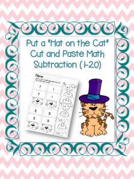 Put the Hat on the Cat Subtraction (1-20)