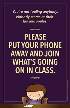 Put your cell phone away poster.