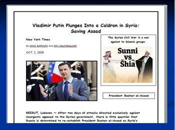 Putin in Syria: Comprehension Product