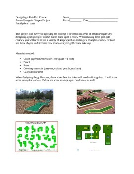Putt Putt Course (Irregular Shapes Area Project)