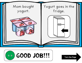 Putting Away the Groceries Click It Book {No Print}