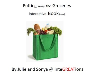 Putting Away the Groceries, Interactive 8 page book (one)