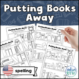 Putting Books Away - Library Activity (American Spelling)