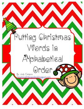 Putting Christmas Words in Alphabetical Order