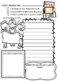 Putting God First Bible Journal Worksheet