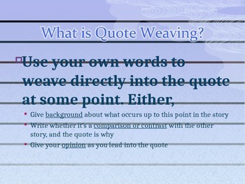 Putting Quotes into Sentences Powerpoint