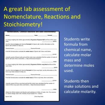 Chem Lab: Putting it all Together: AP Review Naming, Equations and Stoichiometry