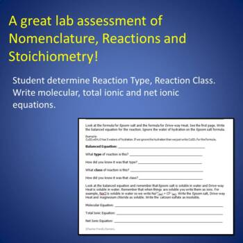 Chem Lab: Putting it all Together: Nomenclature, Equations and Stoichiometry