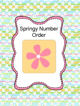Putting numbers in Order- Math Counting and Cardinality