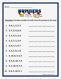 Putting numbers in order /sequence from the greatest to the least.
