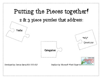 Putting the Pieces Together!- Language Puzzles